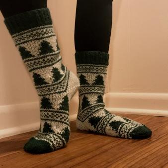 happy tree socks